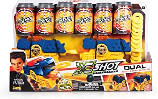 XShot Dual Double Blaster Gun Pack - Cans, Darts, and Discs Action Shooter
