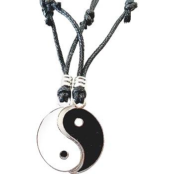 BlueRica Yin Yang Pendant on Adjustable Black Rope Cord Necklace UK/_B019EAJAN4