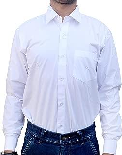 Henco Men/Women/Boy/Girl Formal White Full Sleeves Plain Shirt for Professionals, Doctors, Lawyers, Students, etc.