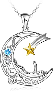 Best cat on the moon necklace Reviews