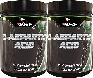 D-Aspartic Acid (DAA) by AI Sports Nutrition | Twin Pack 2X 300 Gram Tubs