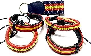 Amazon.es: pulseras bandera españa - Plata: Joyería