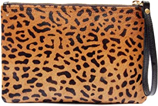 Flat Wallet Leopard Hair On Clutch Handbag for Women