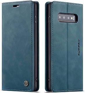 CaseMe/Samsung Galaxy S10 PLS/Phone Case, Wallet Case,Card & Cash Slot, Magnetic Flip, Stand Function (Green)