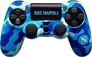 Controller Skin SSC Napoli 3.0 per PlayStation 4 (PS4): Guscio in Silicone, Una Coppia di Gommini Antiscivolo e Due Adesiv...