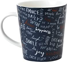 Ellen DeGeneres Crafted by Royal Doulton 40035410 CREATE KINDNESS 16.5 OZ Coffee or Tea Mug, Navy Blue