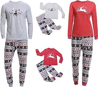 ddd82652f Aibrou Conjunto Familia Navidad Divertidos 100% Algodón y Conjunto de Pijama  de Manga Larga