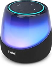 iHome iAV5 Color Changing Bluetooth Rechargeable Speaker for Amazon Echo Dot