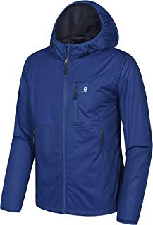 Little Donkey Andy Men's Lightweight Hooded Softshell Jacket for Travel Hiking Running, Windproof, Water Repellent