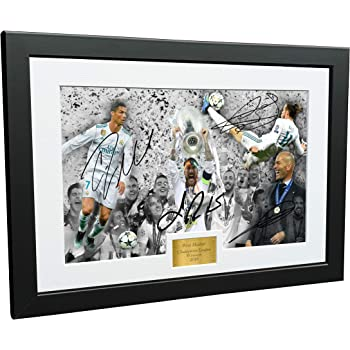 Sign/ée par Sergio Ramos Real Madrid autographe Photo photo Cadre photo Impression A4