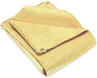 Fiberglass 4' x 6' Welding Blanket, Cover, Retardant | Fireproof. Thermal resistant insulation. Brass grommets for easy Hanging and Protection (Pack of 1)
