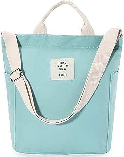 WORLDLYDA Women Canvas Hobo Shoulder Bag Shopper Tote Top Handle Purse Multi-Pocket Handbag