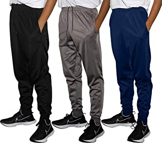 3 Pack: Boy's Active Athletic Casual Jogger Sweatpants...