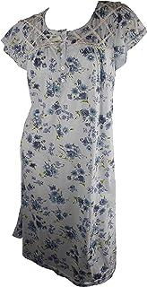 فستان نوم مريح للسيدات من JOTW مطبوع عليه زهور - متوفر من متوسط إلى 5XL (00104)