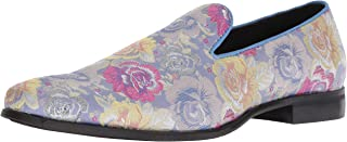 Stacy Adams Mens 25252-530 Swank Brocade Print Slip-on Multi Size: