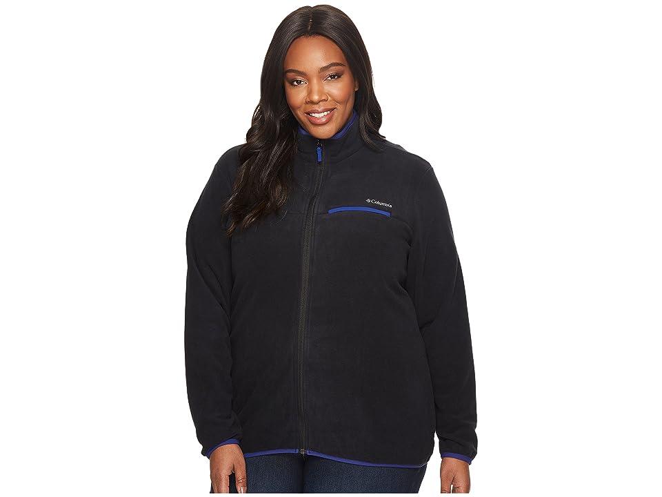 Columbia Plus Size Mountain Crest Full Zip (Black/Dynasty) Women