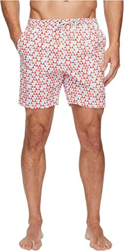 Psycho Bunny - Coloured Pyramids Swim Trunks
