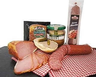 Wurstpaket Oberlausitz | Edel Salami geräucherter Schinken am Stück | Jagdwurst im Glas | verfügbar als Geschenk Jagdwurst