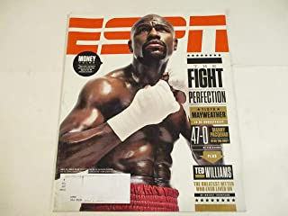 MAY 11, 2015 ESPN MAGAZINE FEATURING FLOYD MAYWEATHER -IS HE UNBEATABLE?* *THE FIGHT FOR PERFECTION* *MANNY PACQUIAO 47-0 - IS HE THE ONE?* *MONEY TALKS*