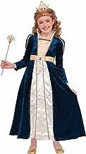 زي تنكري عبارة عن فستان بناتي من العصور الوسطى من رويال نافي برينسيس للأطفال الصغار للهالوين، مقاس صغير ومتوسط وكبير