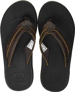 Reef Men's Sandals Leather Element TQT | Athletic Flip Flops for Men