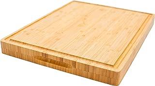 PREMIUM Butcher Block | Bamboo Cutting Board | X-Large | Organic | Size 17''x13''x1.5'' | Compare & SAVE!