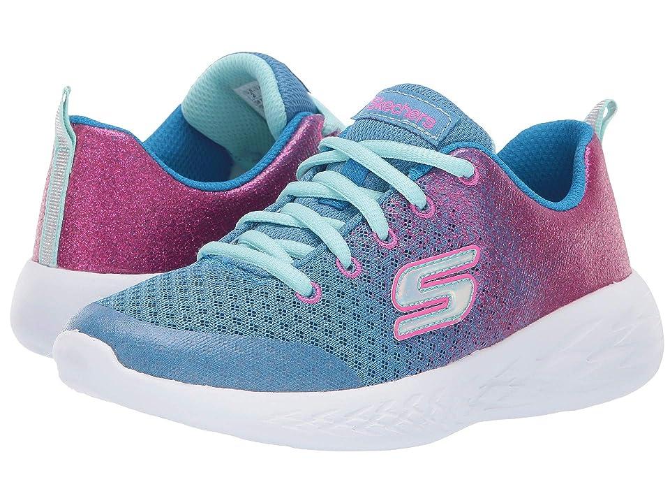 SKECHERS KIDS Go Run 600 Sparkle (Little Kid/Big Kid) (Blue/Neon Pink 2) Girl