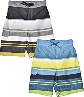 Jachs NY 2-Pack Quick Dry Beach Boys Swim Trunks Board Shorts