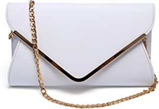 Women Evening Envelope Handbag PU Leather Clutch Bag Formal Flap Purse Shoulder Bag,Large.