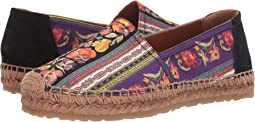 Printed Canvas Espadrille
