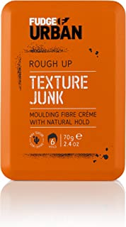 Fudge Urban Texturising Hair Cream, Texture Junk Fibre Crème, Flexible Medium Hold Hair Styling Product, Mouldable Clay wi...