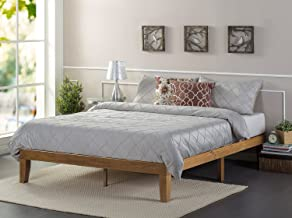 Zinus Alexia 12 Inch Wood Platform Bed / No Box Spring Needed / Wood Slat Support / Rustic Pine Finish, Full