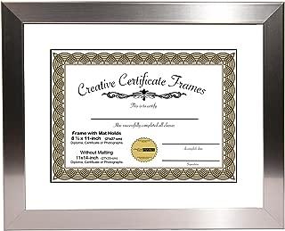 CreativePF [11x14ss-w] Stainless Steel Finish Document Frame Displays 8.5