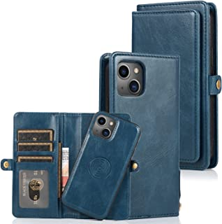 SGVAHY Capa carteira para iPhone 13 Pro Max, capa de telefone separável de couro PU com compartimento para cartão e botão ...