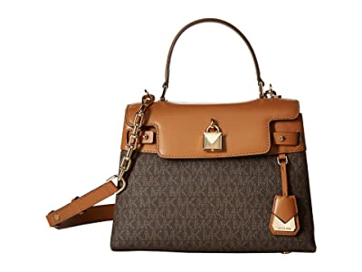 MICHAEL Michael Kors Gramercy Medium Top-Handle Satchel (Brown/Acorn) Satchel Handbags