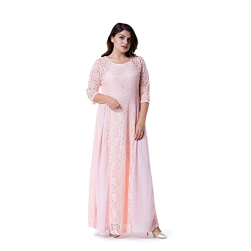 Plus Size Pink Dress: Amazon.com