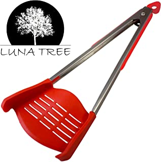 👨🍳NEW DESIGN 2 in 1 HUGE spatula tongs by 🏭LUNA TREE. NEW arrival MULTI FUNCTION HUGE cookware utensil for serving salad flipping pancakes, cooking, grilling barbeque, dining, scraper, buffet