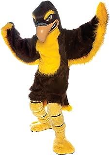 Fierce Falcon Mascot Costume Brown and Gold