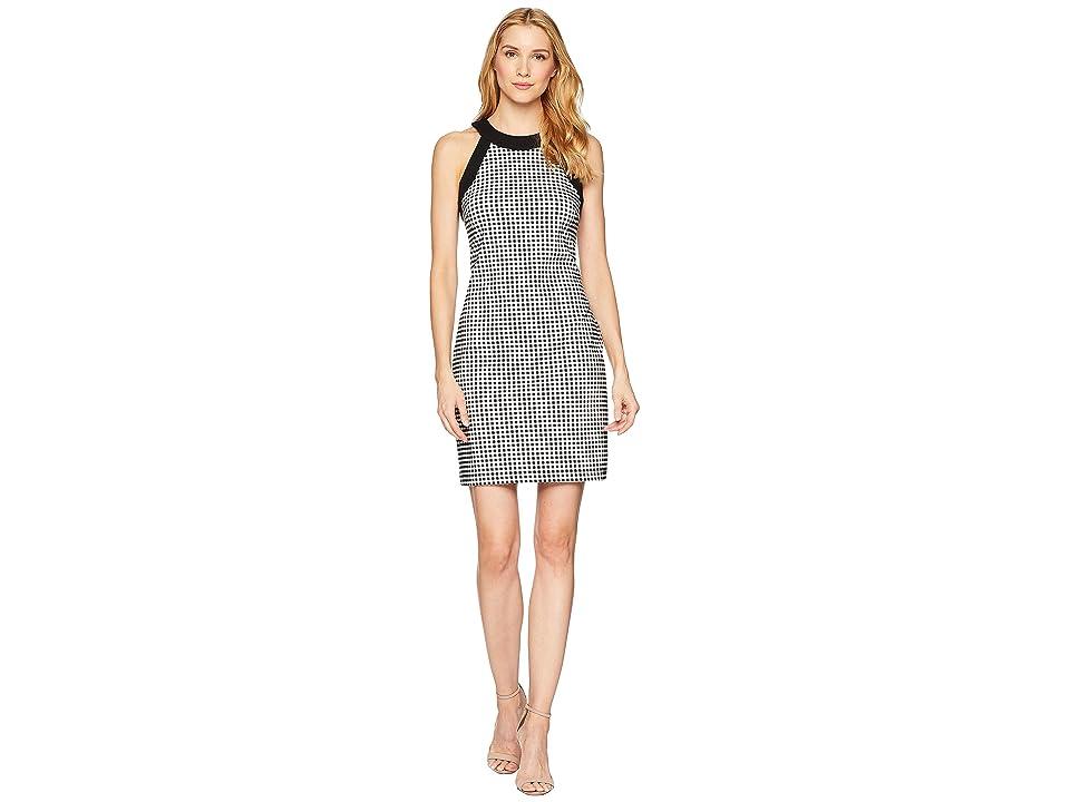 Karen Kane Contrast Check Halter Dress (Check) Women