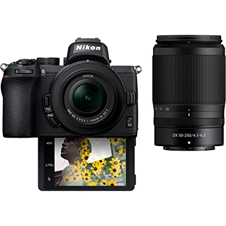"Nikon Z50 Compact Mirrorless Digital Camera with Flip Under ""Selfie/Vlogger"" LCD 