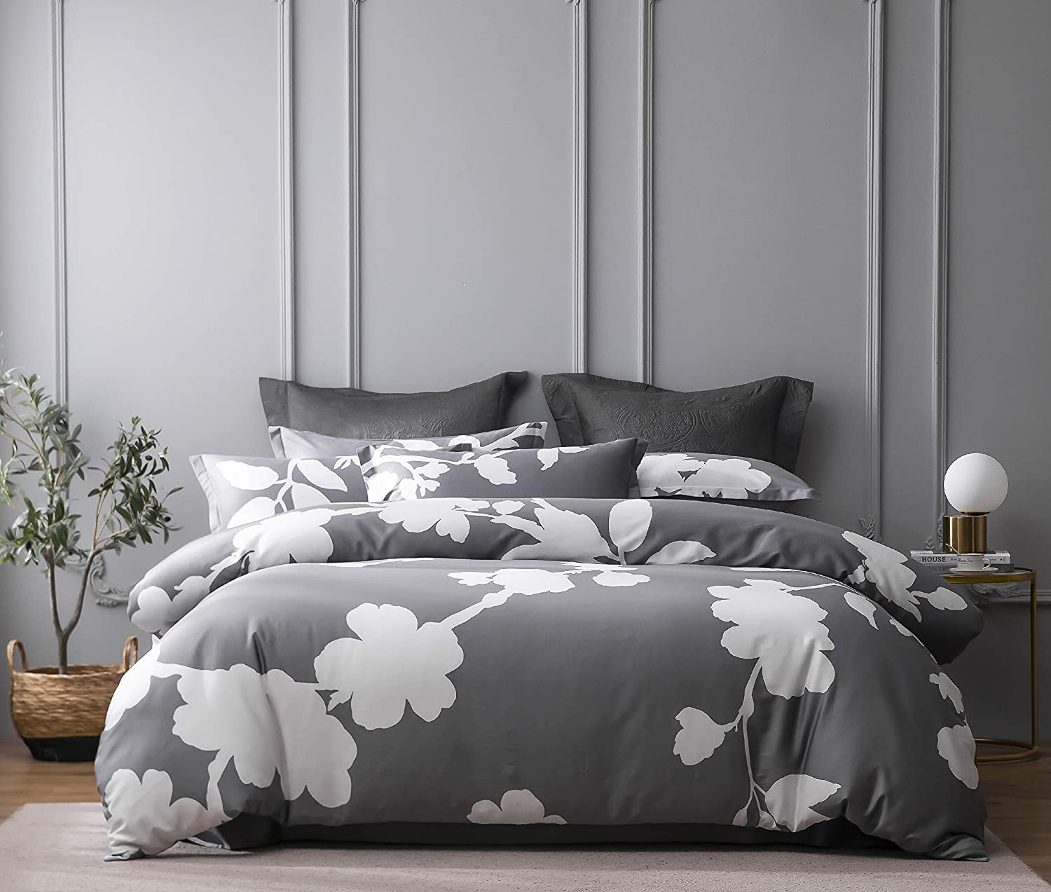 HOMEBOX Floral Duvet Cover Set Prin Flowers We OFFer at cheap prices OFFicial Queen Size Botanical