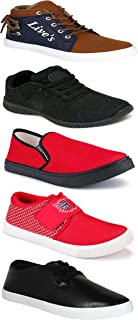 WORLD WEAR FOOTWEAR Sports Running Shoes/Casual/Sneakers/Loafers Shoes for MenMulticolors (Combo-(5)-1219-1221-1140-748-678)