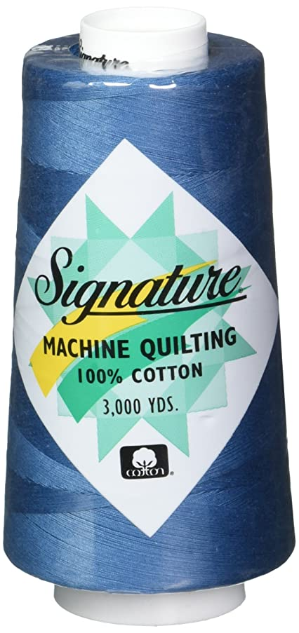Signature Cotton Quilting Thread, 3000 yd, Solids Stone Blue