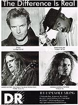 DR Strings - Sting/Dimebag/Warren Haynes/Marcus Miller - 1997 Print Advertisement