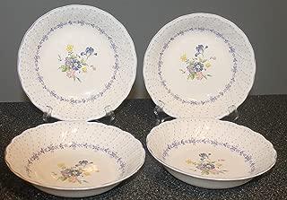 Nikko Blue Peony Tableware Japan 7 1/2