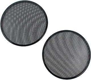 Karcy Speaker Grill 4 Speaker Grill Mesh Speaker Cover Grill Waffle Shape Cold-Rolled Steel Black Pack of 2