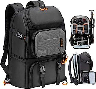 کوله پشتی دوربین TARION Pro بزرگ دوربین همراه با محفظه لپ تاپ نگهدارنده سه پایه ضد آب ضد باران عکاسی در فضای باز مسافرت مسافرتی کوله پشتی کیف حرفه ای دوربین DSLR برای مردان دسترسی جانبی