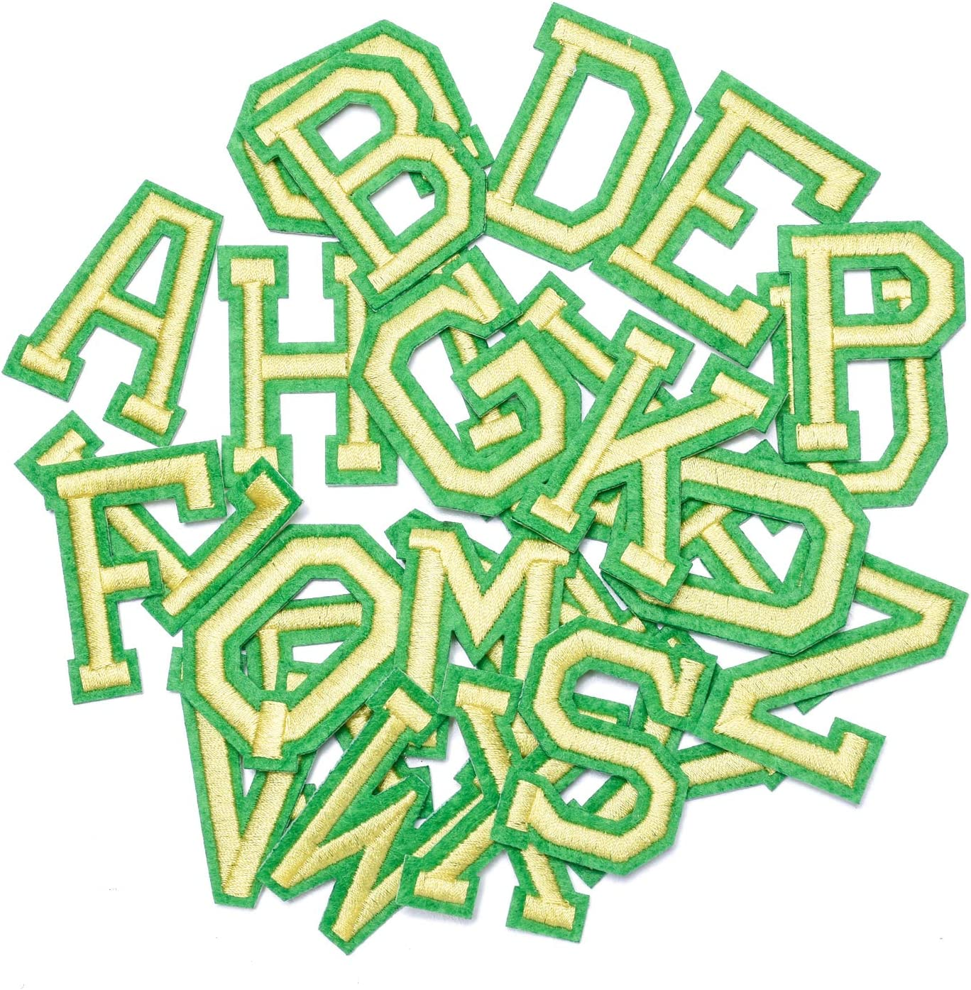 Wlkq 26pcs Green Letter A-Z Patch Assort Embroidered Translated New Shipping Free Shipping Accessories