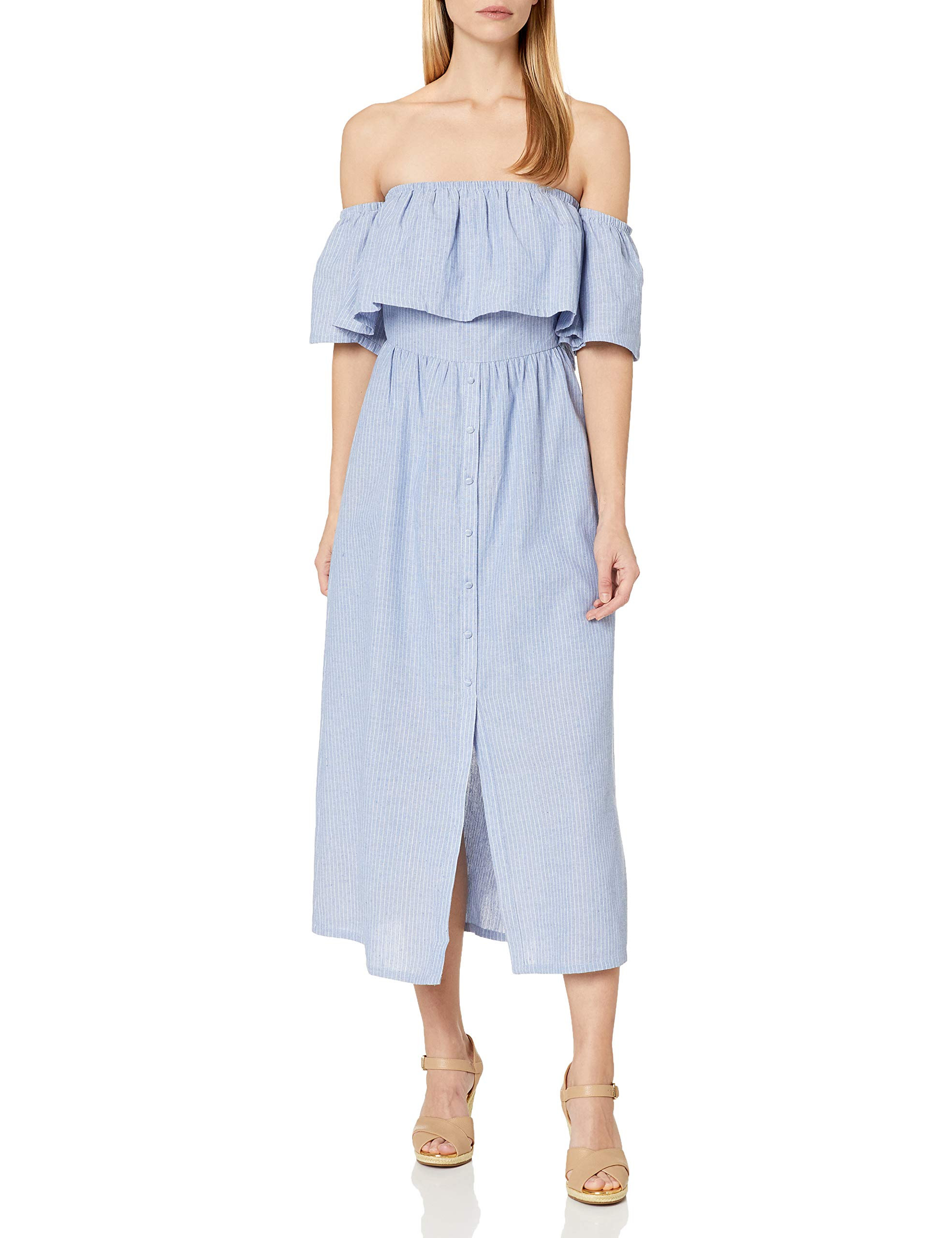 Available at Amazon: JOA Women's Off The Shoulder Button Front Maxi Dress