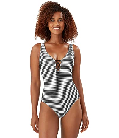 Tommy Bahama Breaker Bay Reversible Lace Back One-Piece (Black Reversible) Women